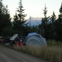 First night of roadside camping