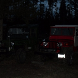 Two old Willys in mint shape at Chilco's