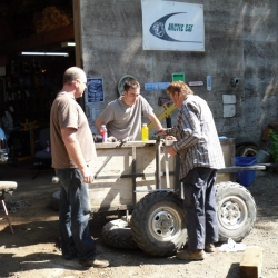 Fixing the broken trailer axle