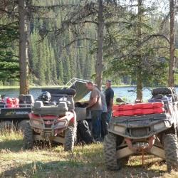Camp at end of Swartz Lake
