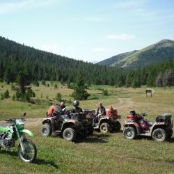 Valley below Poison Mountain where three trails meet