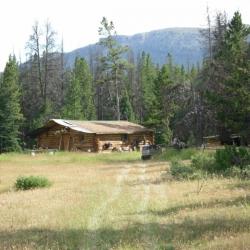 Arriving at Gang Ranch cabin