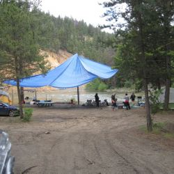 White Sand beach popular Camping spot on KVR