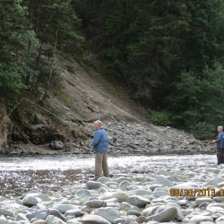 Bob and Ron trying out some fly fishing