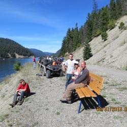 Lunch break at Otter Lake