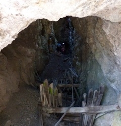 Inside a mine shaft