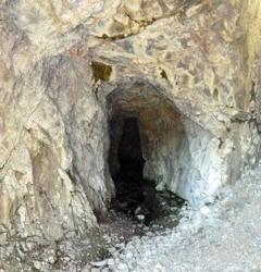 Entrance to mine shaft