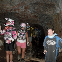 Checking out the mine.