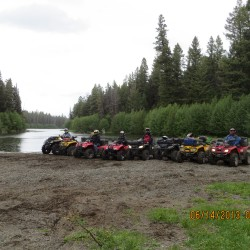 Group ride at Jack Lake near Leighton Lake June 2013