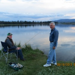 Dave and Bill Fishing on Leighton Lake 2013