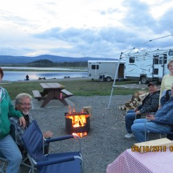 Sitting around the fire overlooking Leighton Lake June 2013